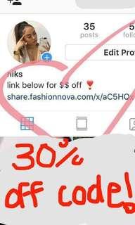 Fashion Nova discount code