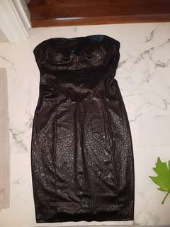 Sexy faux leather skin dress size small