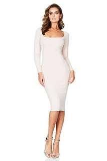 Nookie Manhattan Long Sleeve midi Dress