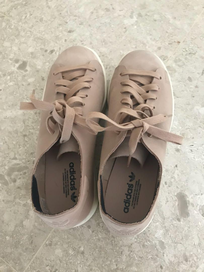 low priced 975ab b0e51 Adidas original Stan Smith Nuud Nubuck Trainers in pink ...