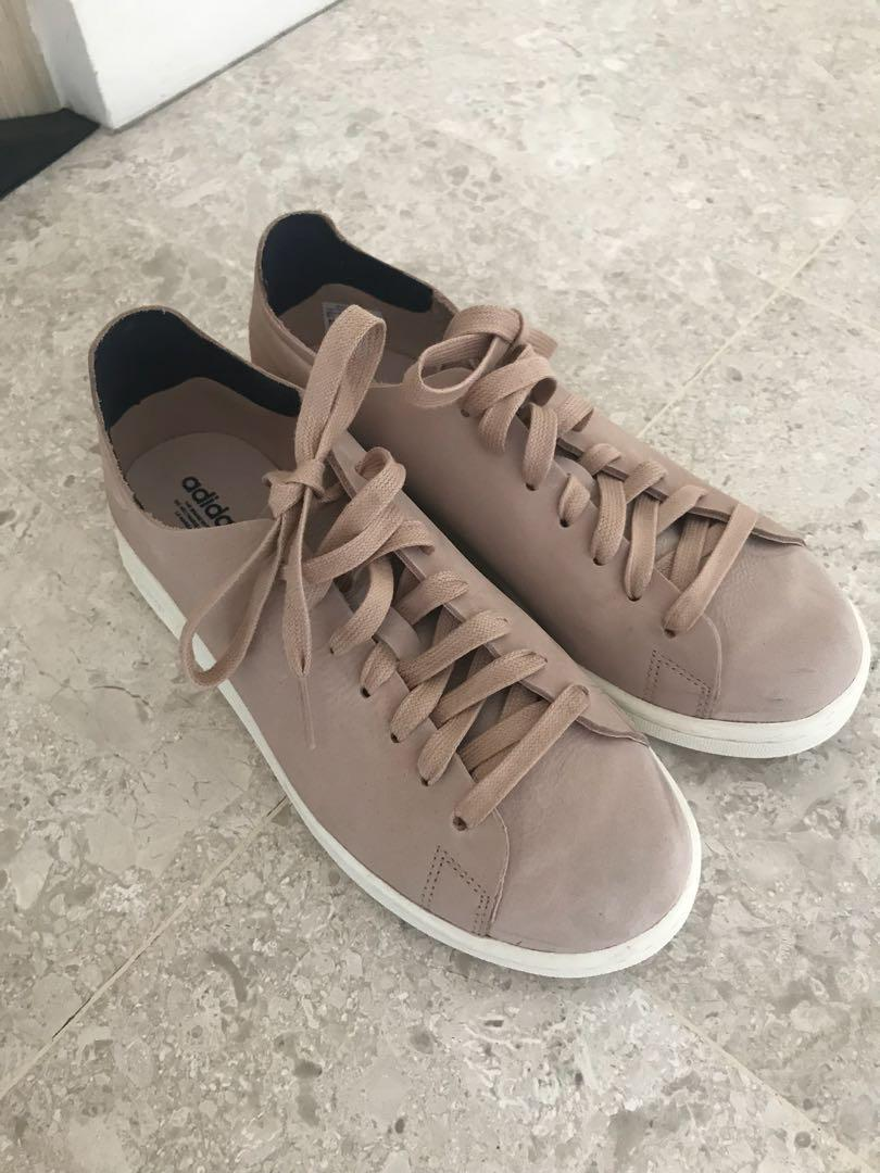 low priced c51ca 53c28 Adidas original Stan Smith Nuud Nubuck Trainers in pink ...