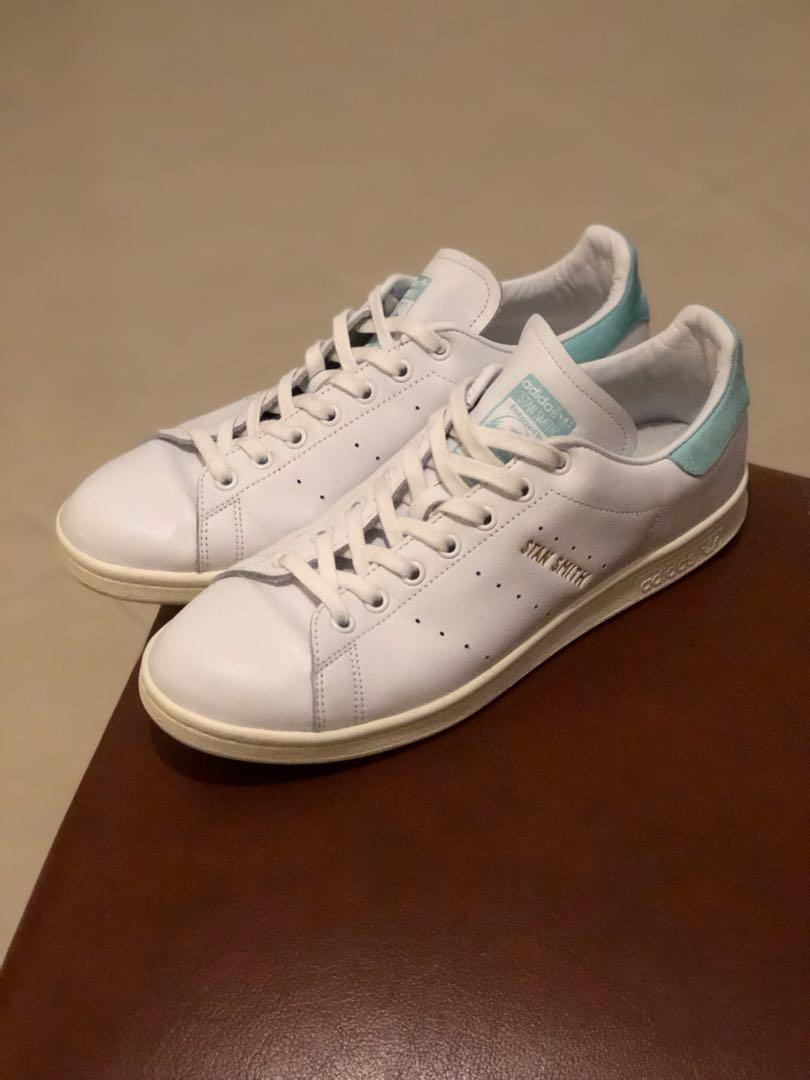 meet 9e325 97b60 Adidas Stan Smith Tiffany blue old skool vans converse uk10 white sneakers