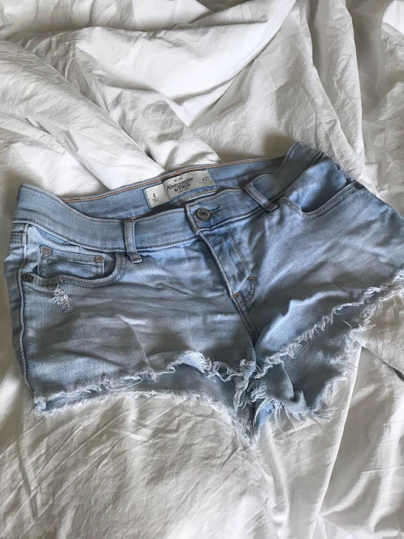 26d0db5dfd9b9 A&F Abercrombie & Fitch denim shorts, Women's Fashion, Clothes ...