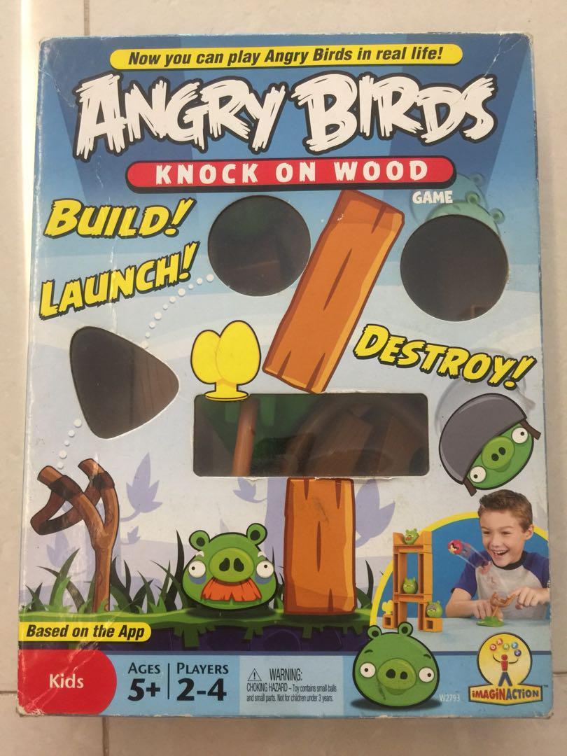 Angry Birds Knock On Wood