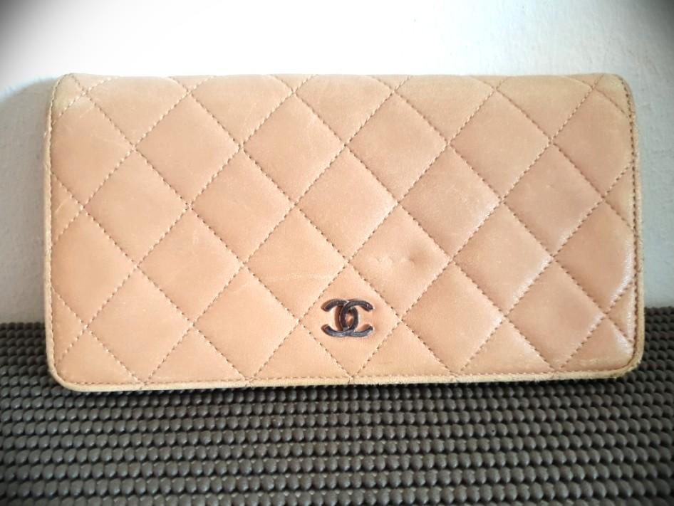d45518bc21d3 Auth - Chanel Wallet lambskin matelasse quilt, Luxury, Bags ...