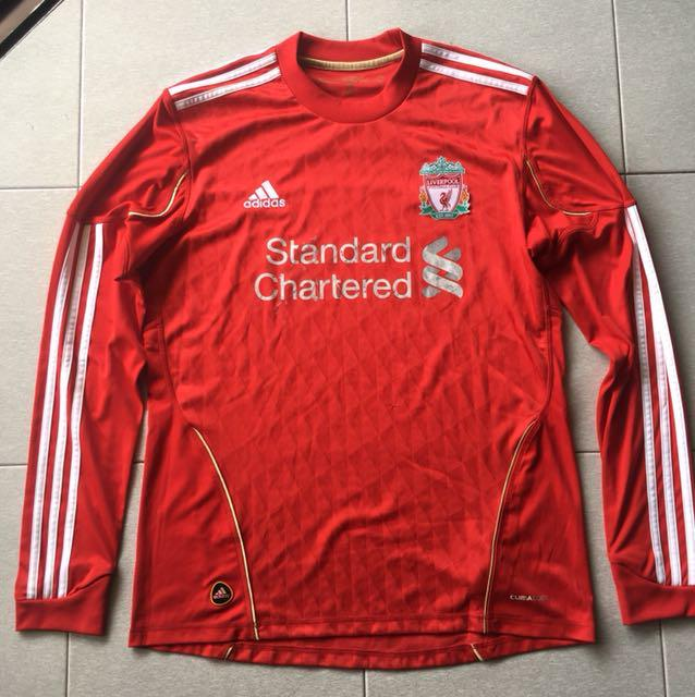 reputable site 9ef48 cef81 Authentic Adidas Liverpool Long Sleeve Jersey, Sports ...