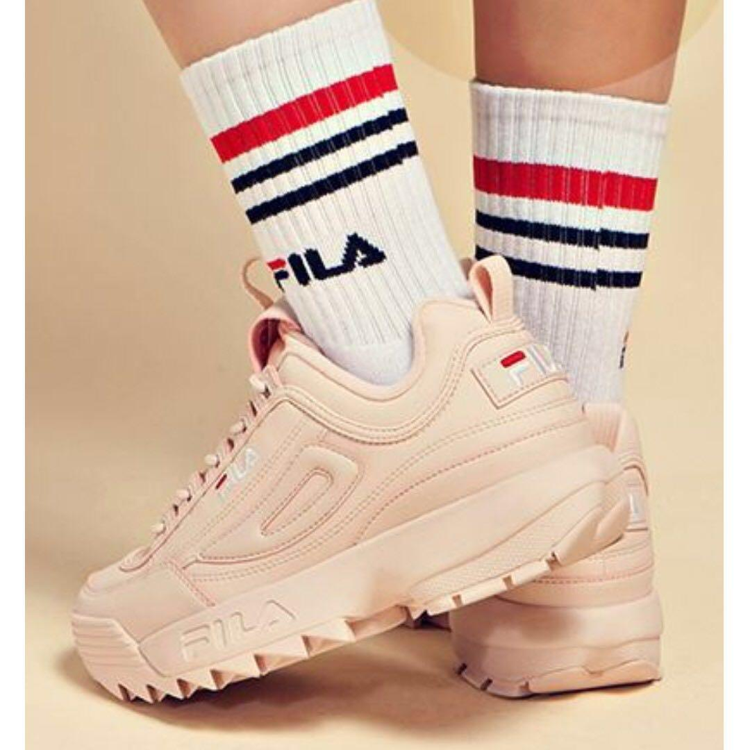 AUTHENTIC FILA Disruptor 2 in Pale Pink