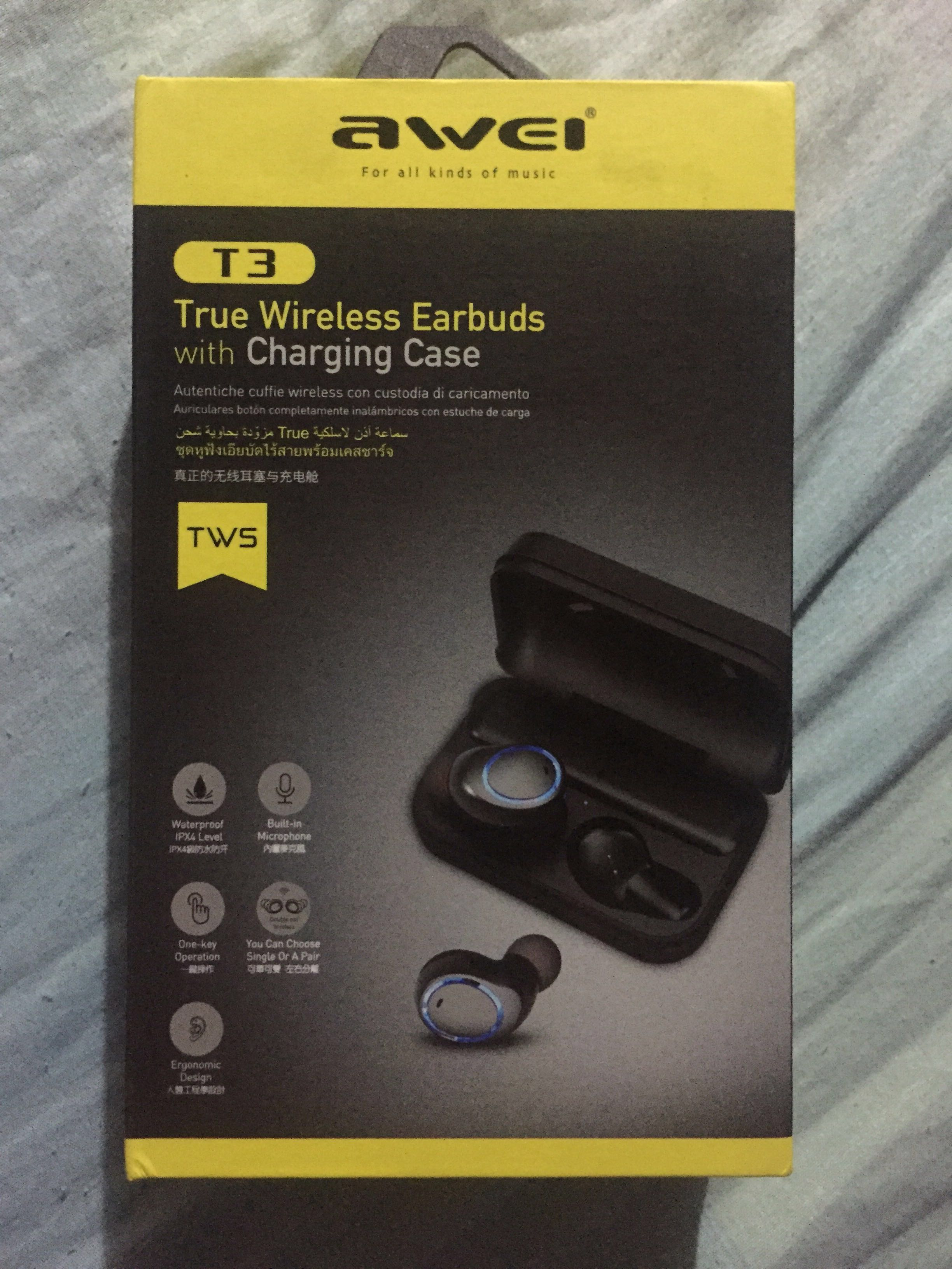 8cd8bffeb43 Awei T3 True Wireless Earbuds with Charging Case on Carousell