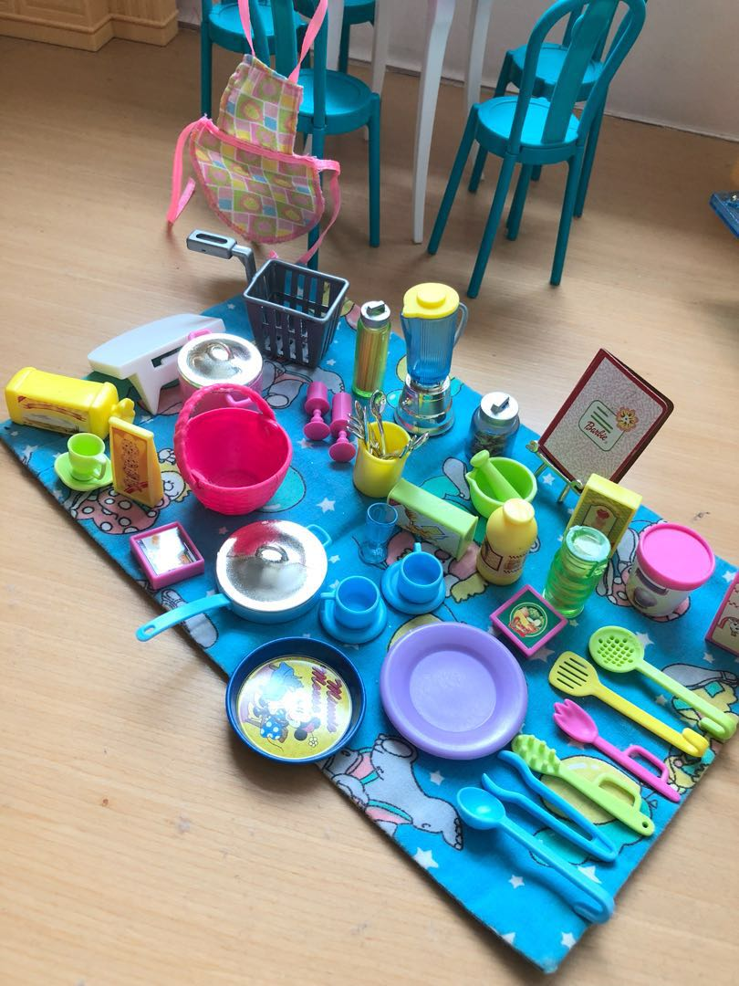 Barbie Doll Kitchen and Dinning Table Set, Toys & Games, Toys on ...