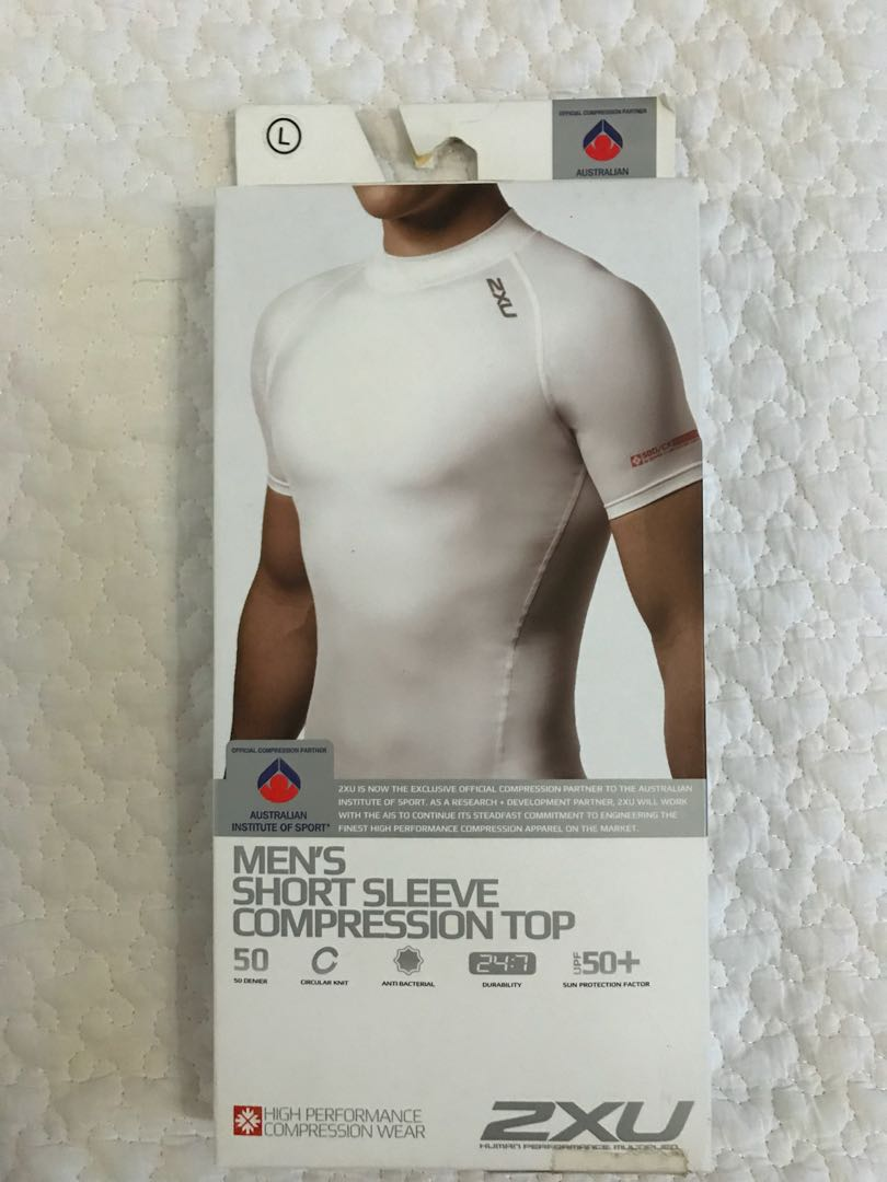 d0b9eee5cf BN Authentic 2XU Men's Short Sleeve Compression Top (white) Size L ...