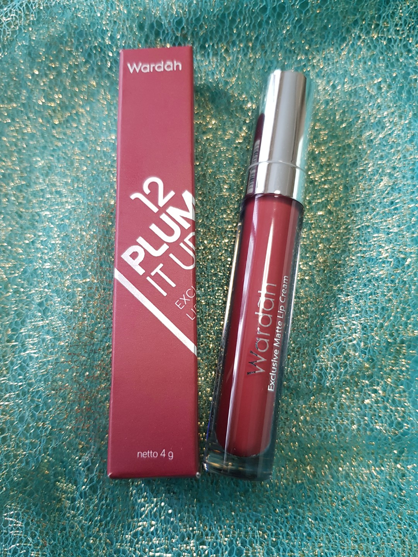 Wardah Exclusive Matte Lip Cream No12 Plum It Up Spec Dan Daftar No 8 Bn Halal Health Beauty
