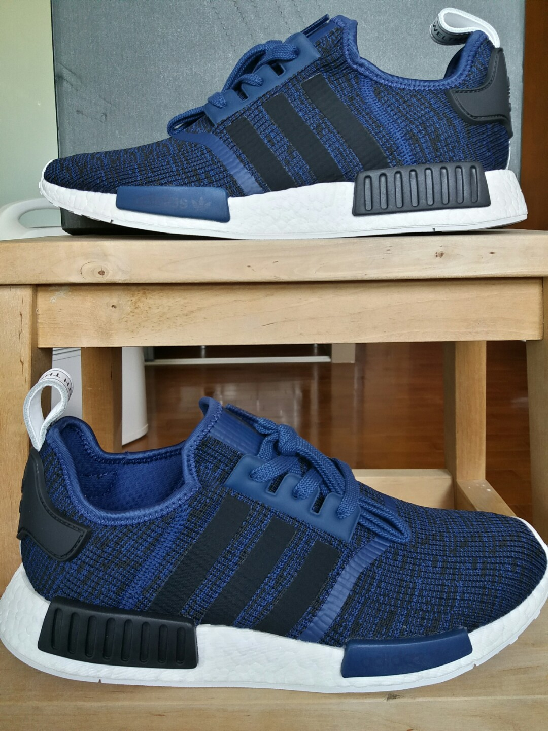 competitive price 56d09 bea81 **BNIB** ADIDAS NMD RUNNER R1 'MYSTERY BLUE' Core Black / Collegiate Blue  US size 12.5