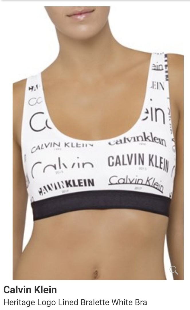 f60d120455 Brand new Authentic Calvin Klein heritage Logo lined bralette ...