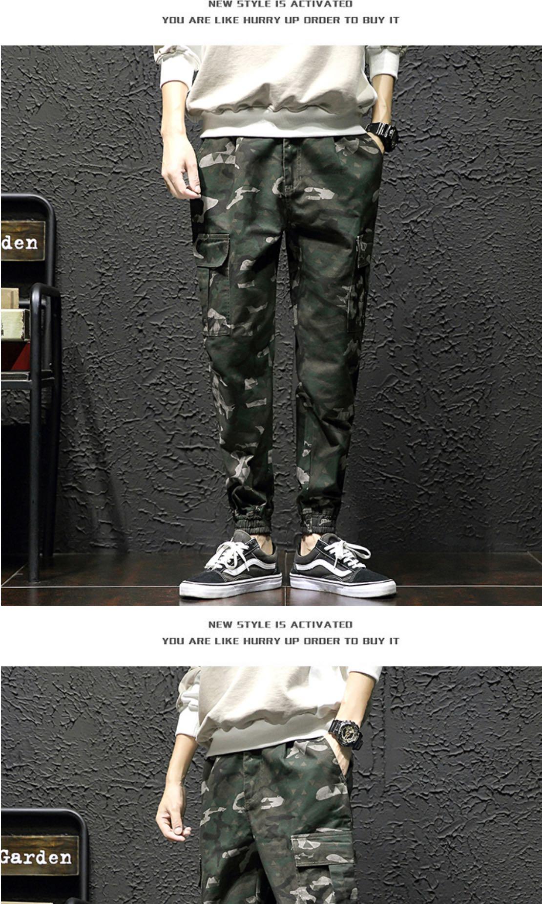 4ce26c36880f5 Camo Jogger Pants Army Military Pants Plus Size, Men's Fashion ...