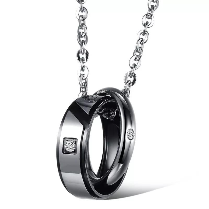 Couple SET a pair Necklace high quality stainless Steel (instock)Promotion now🔥🔥Hot SALE 🔥🔥