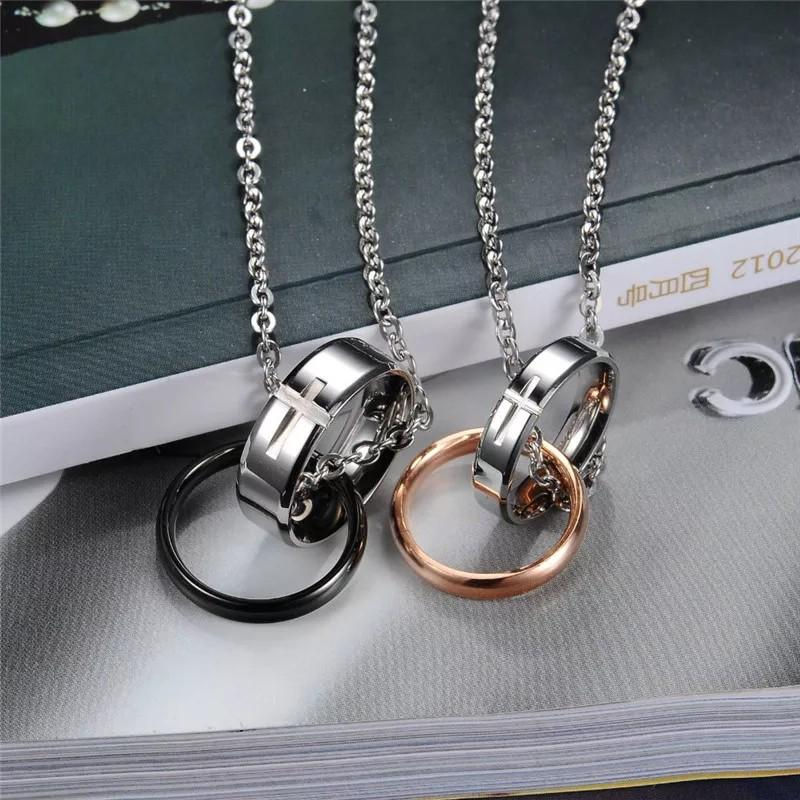 Couple SET of 2 Necklace high quality stainless Steel (instock)promotion now🔥🔥Hot SALE 🔥🔥🔥🔥