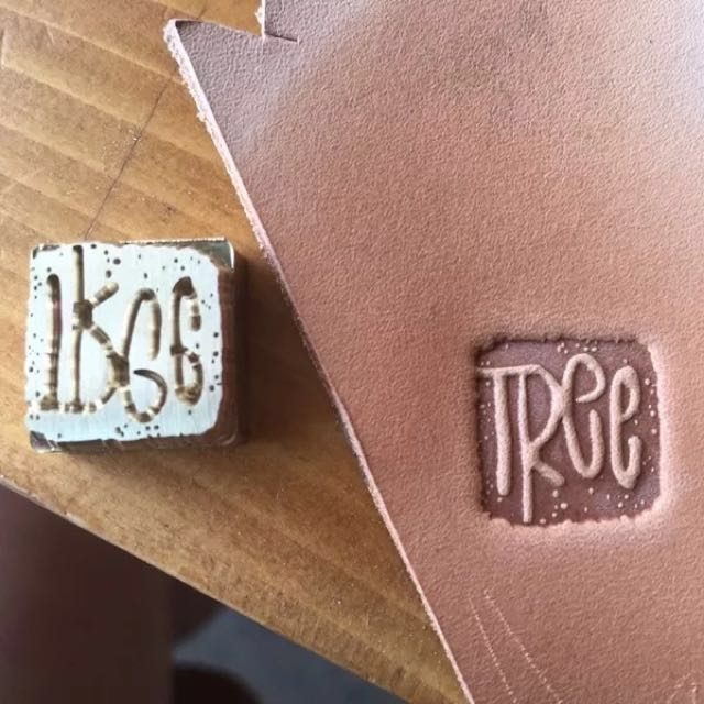 Custom Leather Brass Stamp Logo Foil Stamping Heat And