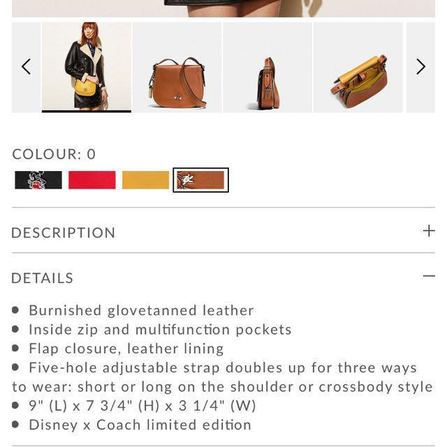 ea099909 Disney X Coach Mickey Saddle Bag 23 In Glovetanned Leather (Brown ...