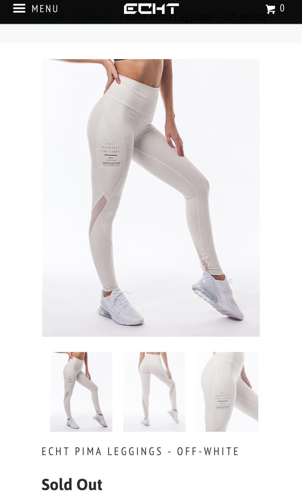 Echt pima leggings white