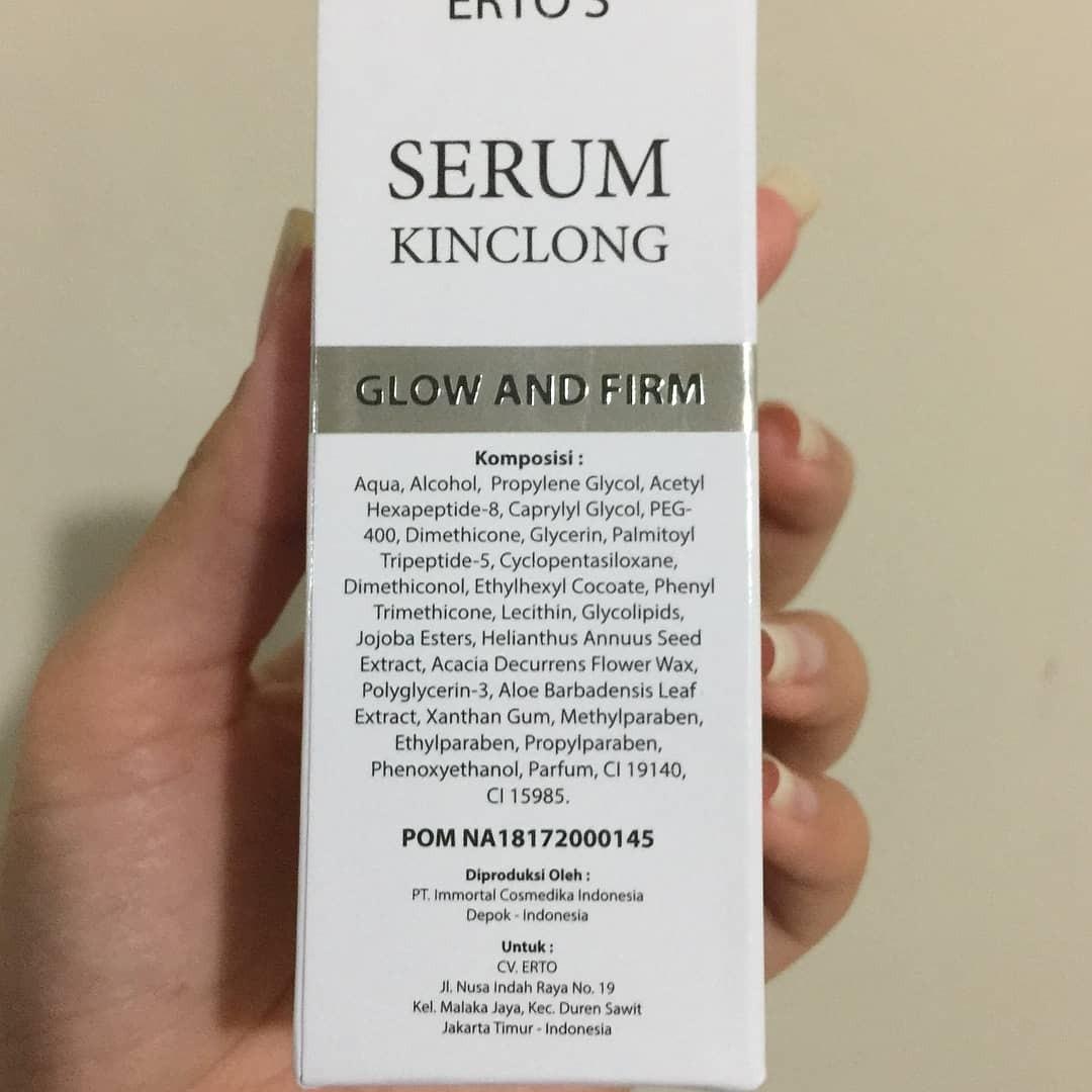Ertos Serum Kinclong Glow And Firm Kesehatan Kecantikan Kulit Original Sabun Tubuh Di Carousell