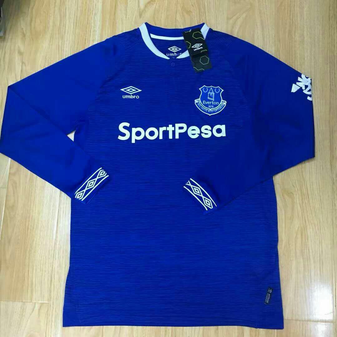 online store e48d8 b1433 Everton 18-19 Home Long Sleeve Kit, Sports, Sports Apparel ...