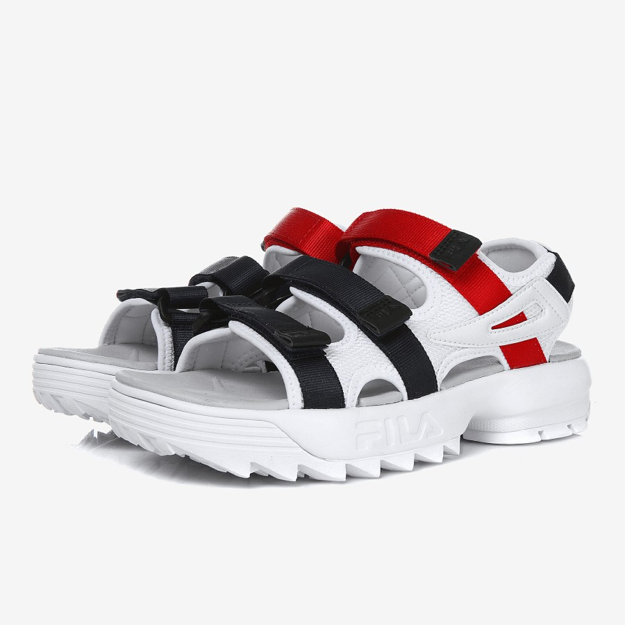 689f27b254b Fila Disruptor Sandals white navy red 26.0cm