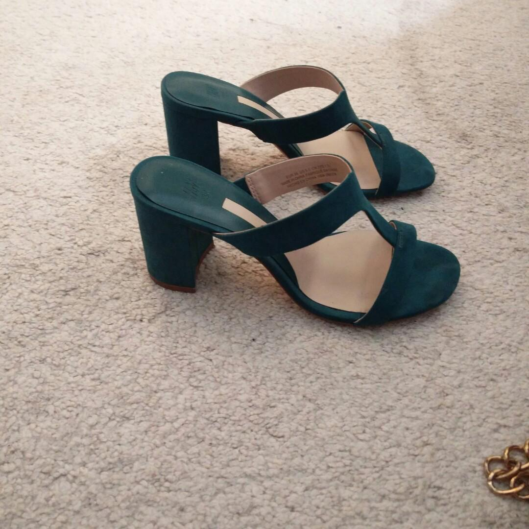 Green shoes H&M