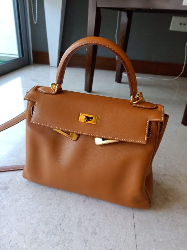 1aaf71fb68136 Hermes Kelly 28 Gold Swift GHW #D, Luxury, Bags & Wallets, Handbags ...