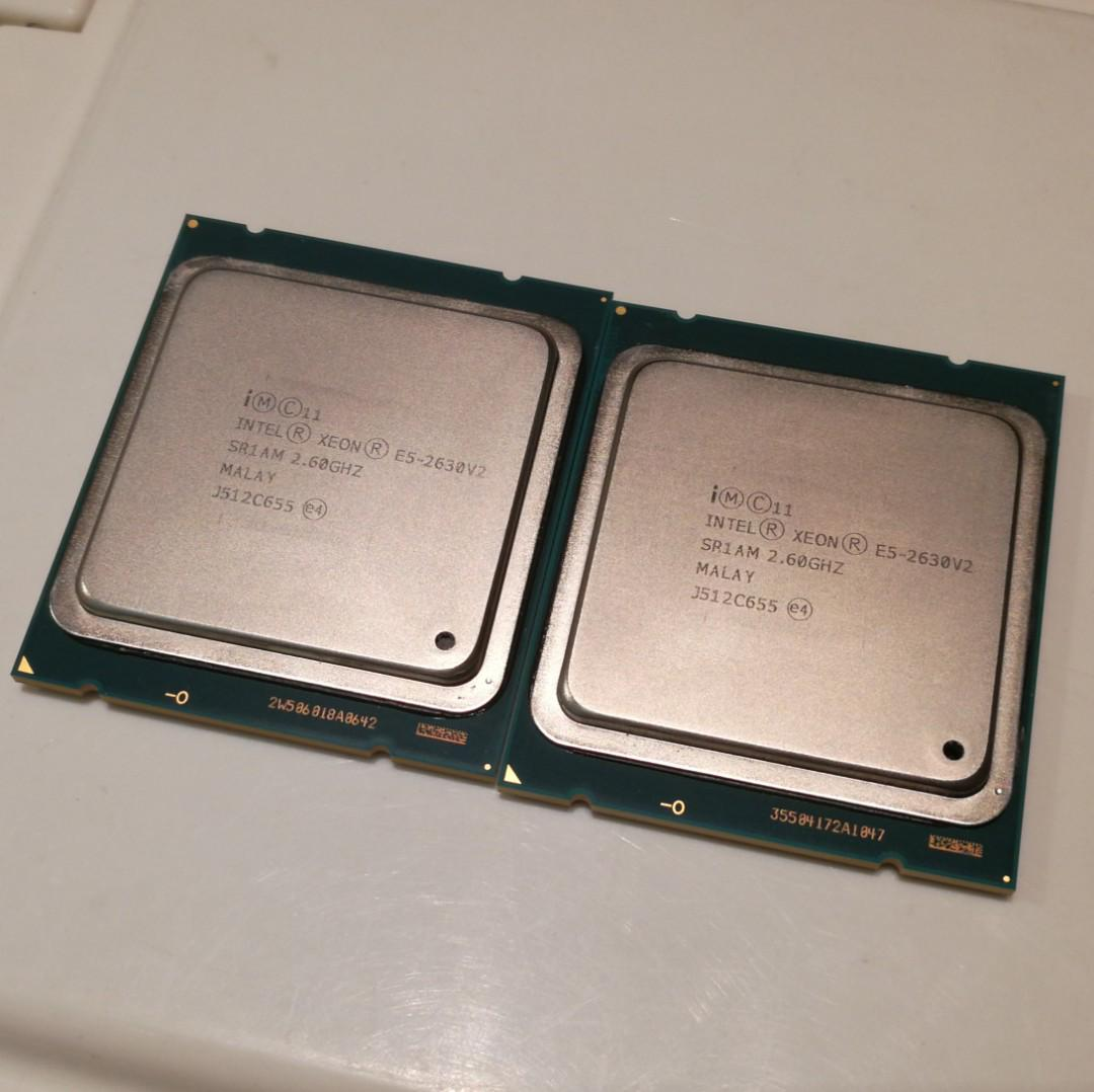 Intel Xeon E5-2630 v2, Matching Pair CPUs, 12c/24t Total
