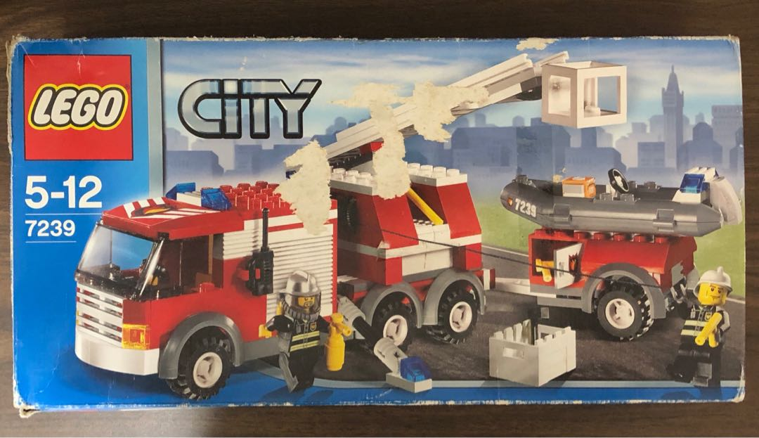 Lego City Fire Truck 7239 Toys Games Bricks Figurines On Carousell