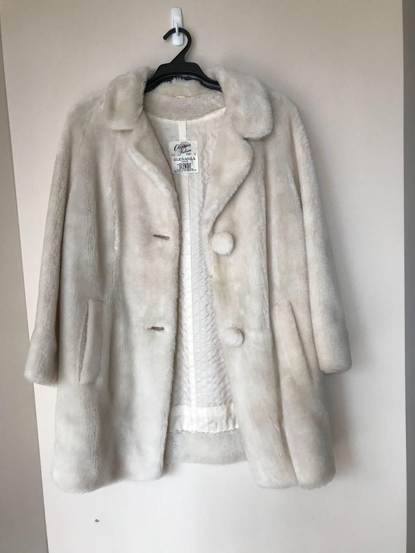 on Cream Off White Teddy Women's Jacket Clothes Fashion Bear Long qfS4xCwT