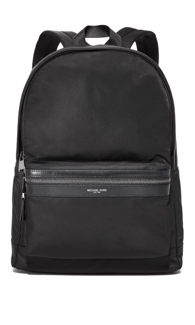 55d8afebf100 SALE Michael Kors black backpack