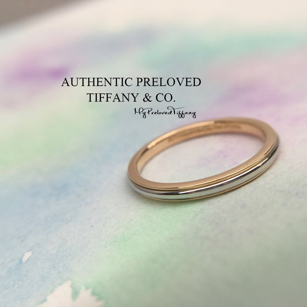 0bb173304 Mint Authentic Tiffany & Co Platinum Rose Gold Lucida Classic ...