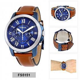 4656b18e0979 OFFER SALE - Fossil Mens FS5151 Grant Chronograph Stainless Steel ...