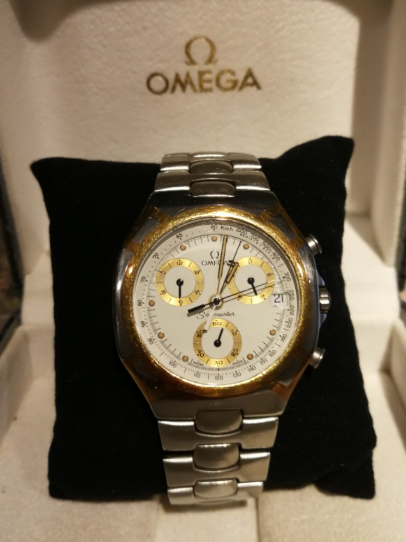 Reserved Omega Seamaster Chrono Solid Inlaid 18k Gold Men S Watch