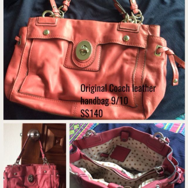 2735cf5360c Original Coach leather bag (price reduced), Women s Fashion, Bags    Wallets, Handbags on Carousell