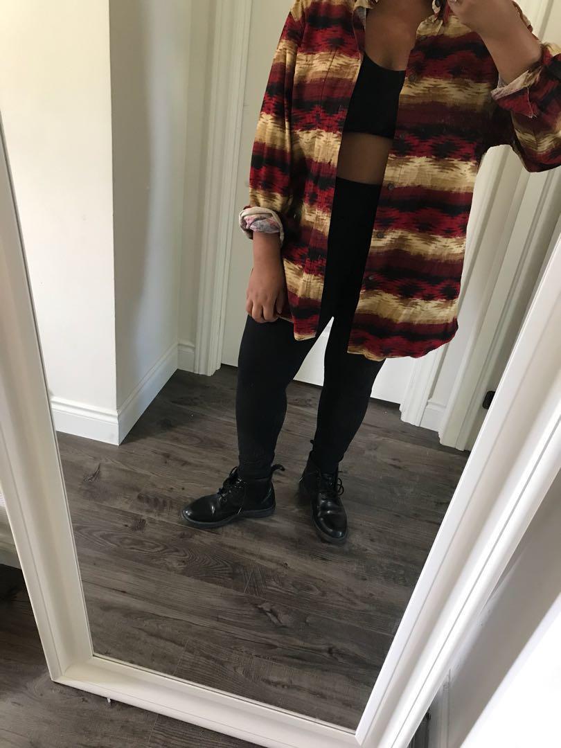Oversized Aztec flannel