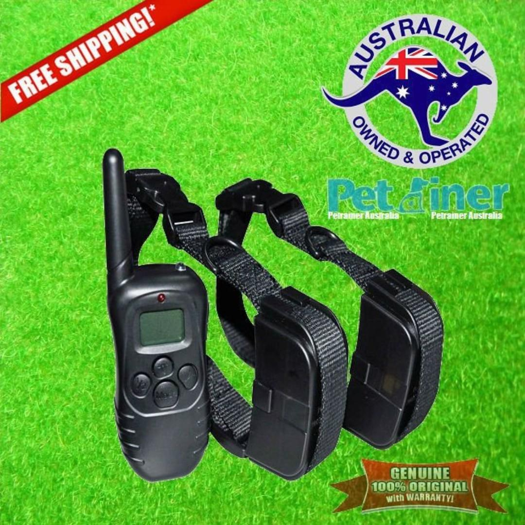 Petrainer PET998D-2 Remote Dog Training Collar with Shock and Vibration for 2 Dogs