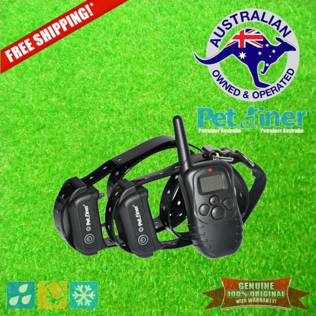 Petrainer PET998DB-2 Remote Dog Training Collar with Shock & Vibration for 2 Dogs