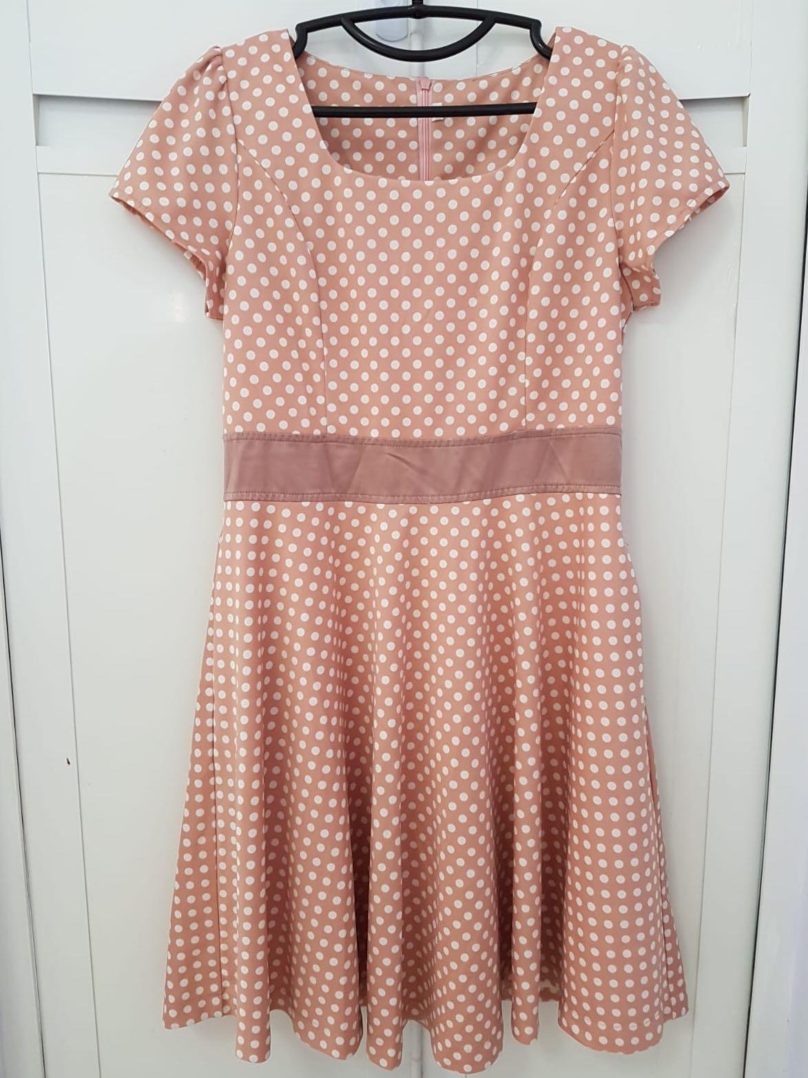 d33fb31d8dc Pink Polka Dot Dress, Women's Fashion, Clothes, Dresses & Skirts on ...