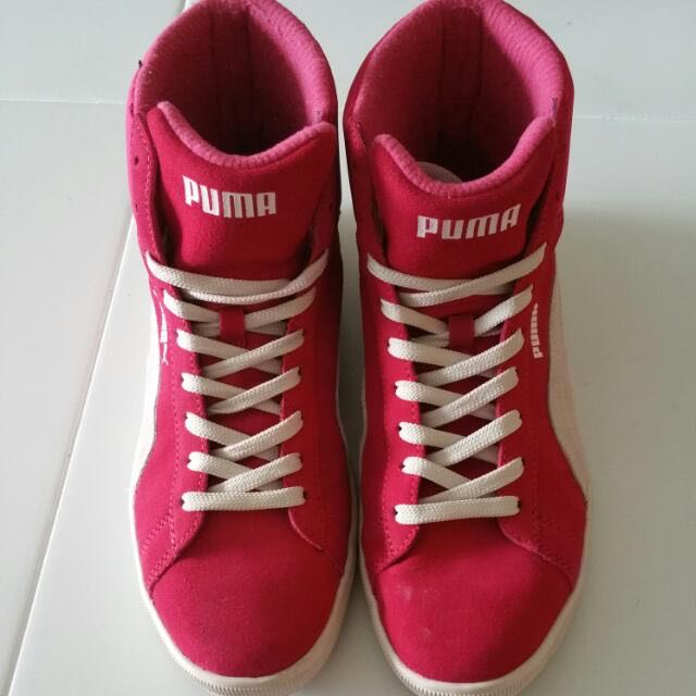 bfabb9027d0034 Pink Puma High Cut Shoes   Sneakers