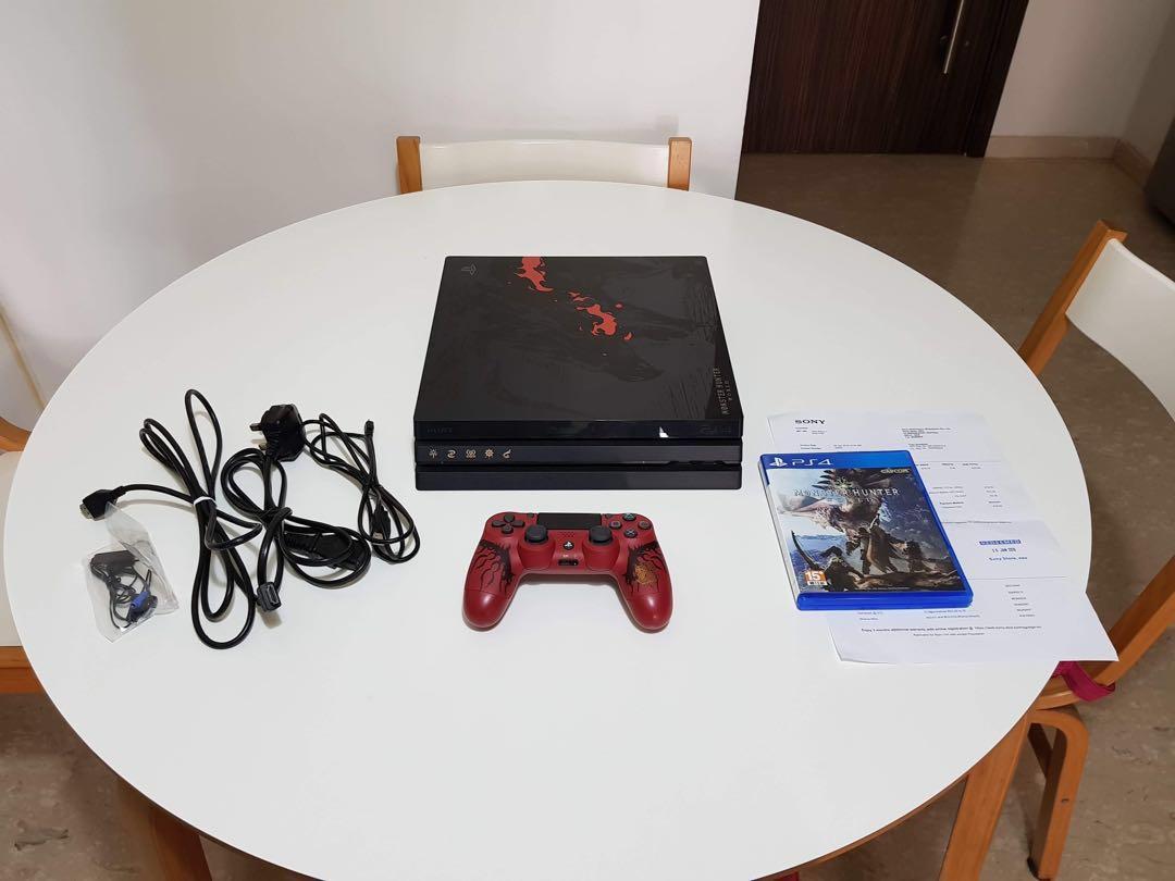 PlayStation 4 Pro Monster Hunter: World Rathalos Edition Bundle