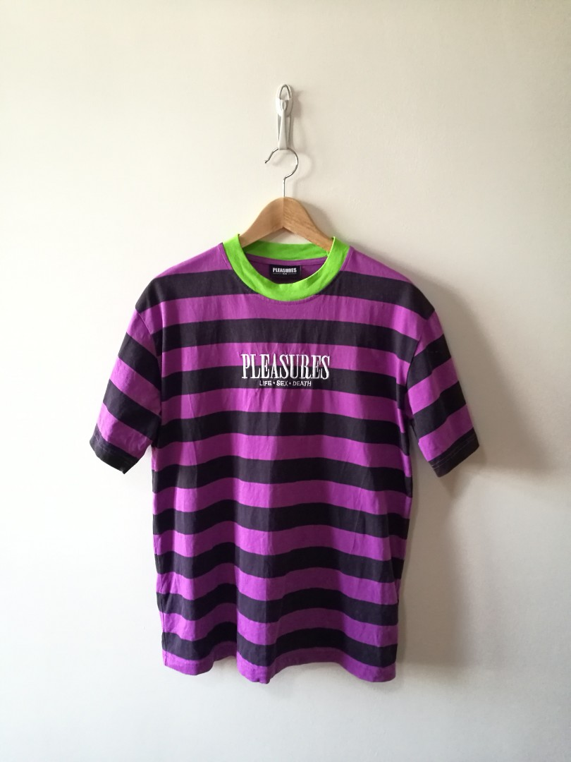 fffa26ec PLEASURES LSD Stripes Tee, Men's Fashion, Clothes, Tops on Carousell