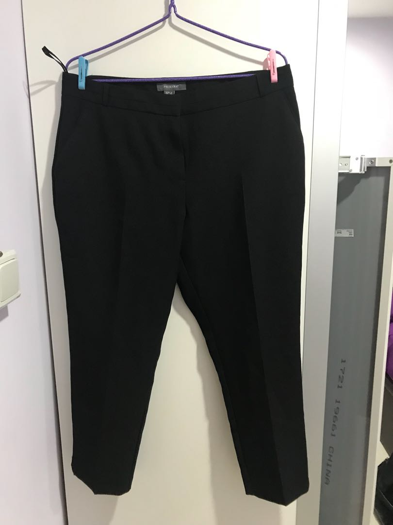 91e453f54c226 Plus Size Primark Black Cropped Work Pants Size UK16, Women's ...