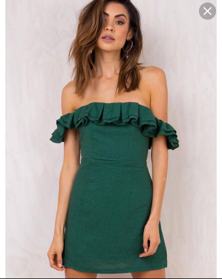 Princess Polly off shoulder Dress XS // Beginning Boutique // Glue Store // Glassons // Universal Store