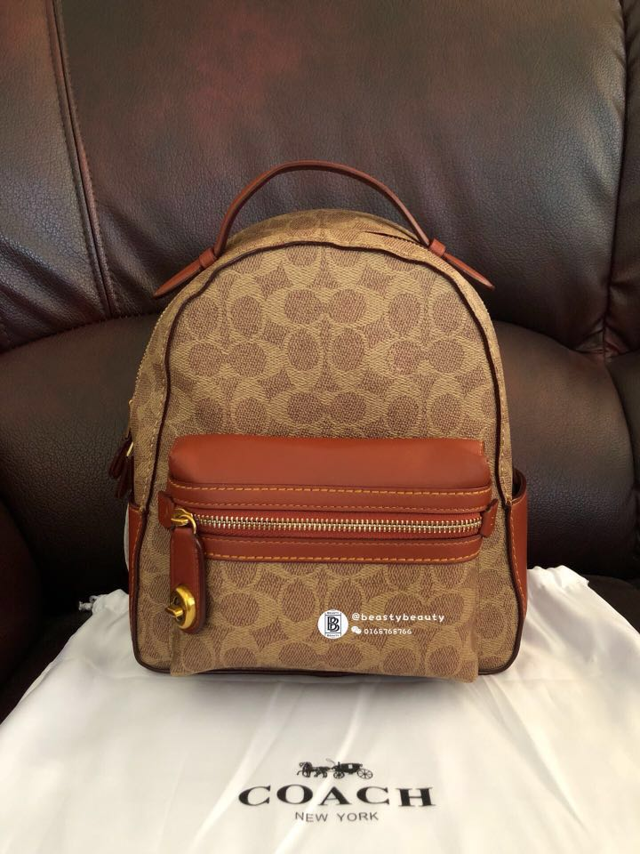 57fc217167c Readystock🚨Coach Campus Backpack 23 in Signature Canvas, Luxury ...