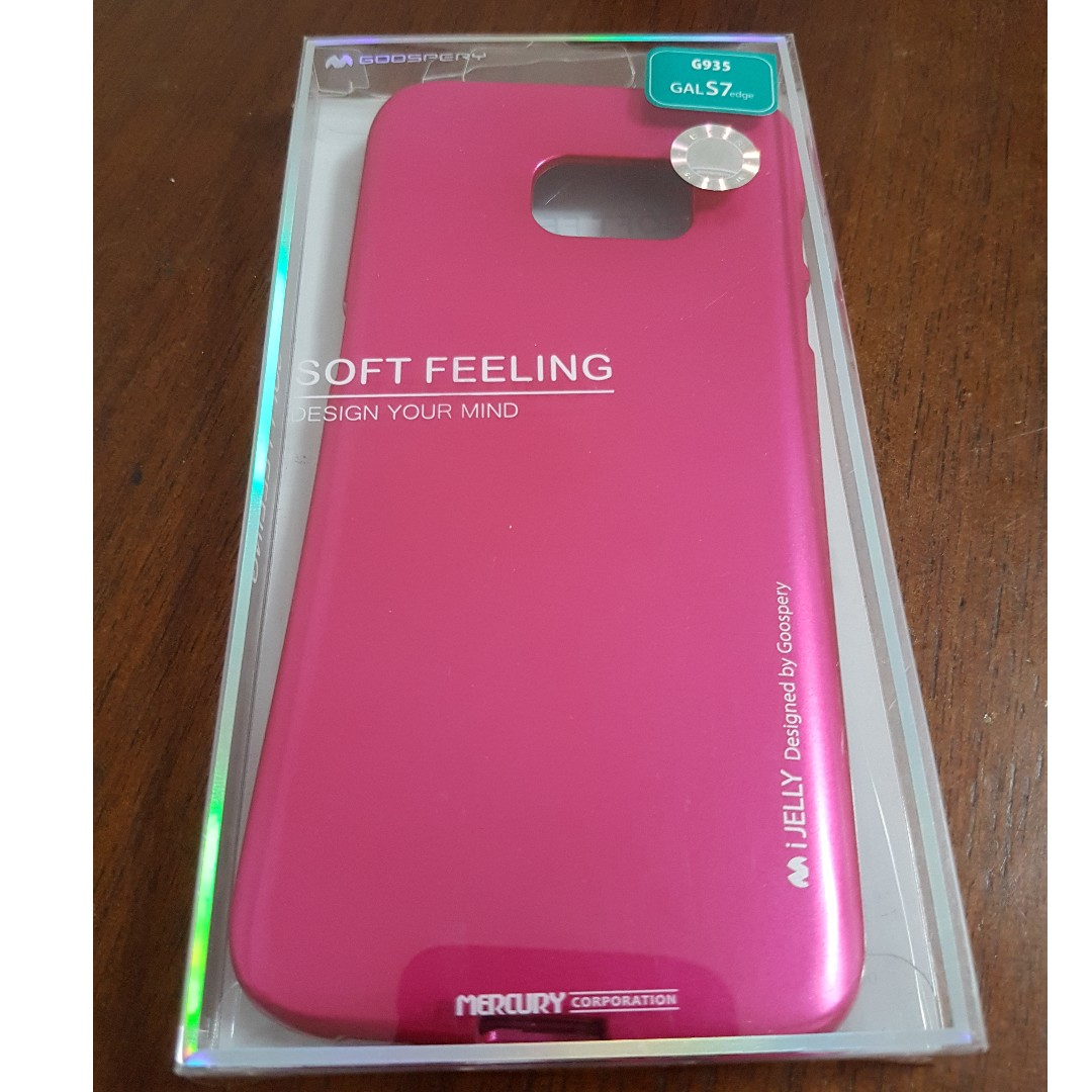 Samsung S7 Edge Phone Cover Hot Pink Mobile Phones Tablets Goospery Galaxy Soft Feeling Jelly Case Black Tablet Accessories Cases Sleeves On Carousell