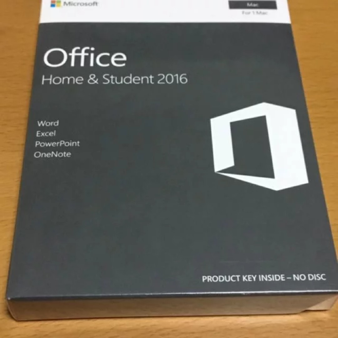 Shrink wrapped Microsoft Office 2016 (Home and Student) for Mac