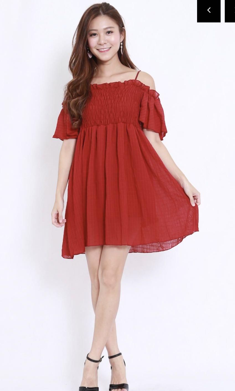 66856446d Smoked Offsie Babydoll Dress