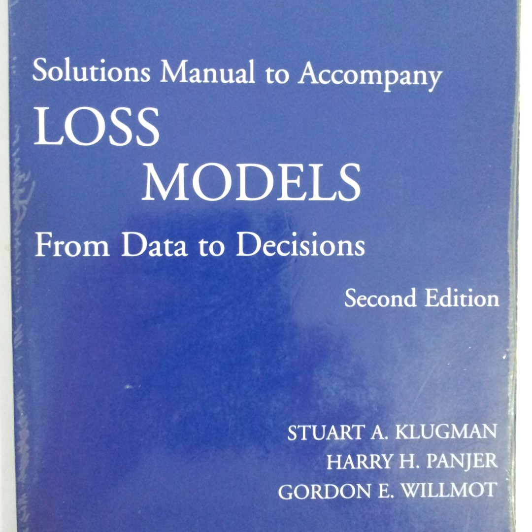 loss models from data to decisions